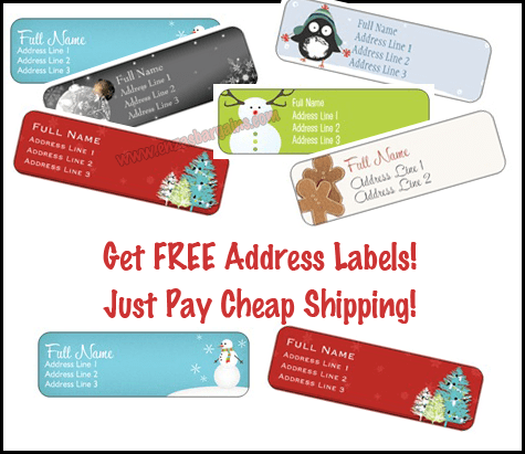 FREE Holiday Labels: Just Pay Cheap Shipping! - EnzasBargains.com