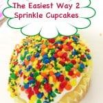Easiest Way to Sprinkle Cupcakes