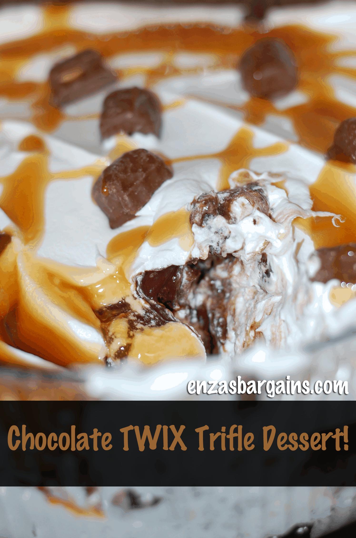 Twix Dessert Chocolate Trifle Dessert Made With TWIX Bites!