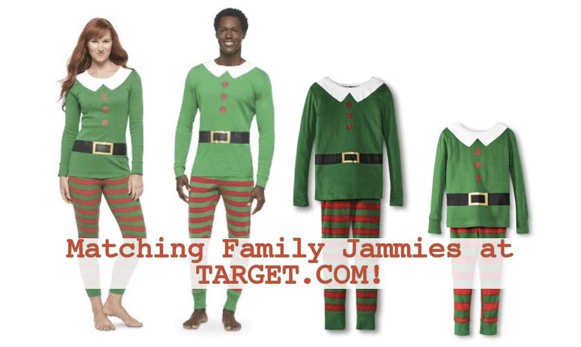 Target: Family Elf Matching Pajamas! BOGO 50%.