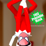 Elf on the Shelf SpiderMan Mask: FREE Printable Mask
