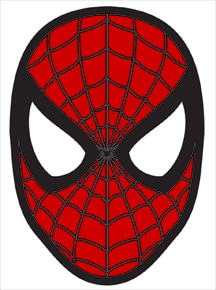 spider man face mask template .