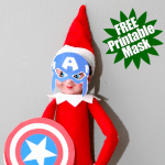 Elf on the Shelf Captain America Mask: FREE Printable Mask & Shield