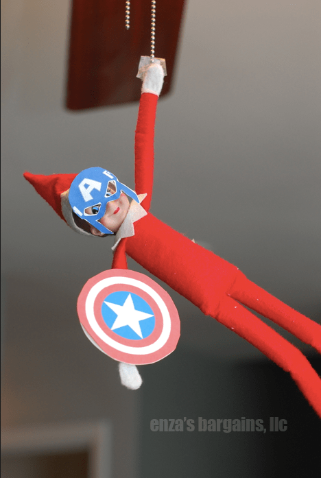 Elf on the Shelf Captain America Mask
