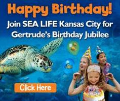 happy birthday gertrude sea life kansas city. Black Bedroom Furniture Sets. Home Design Ideas