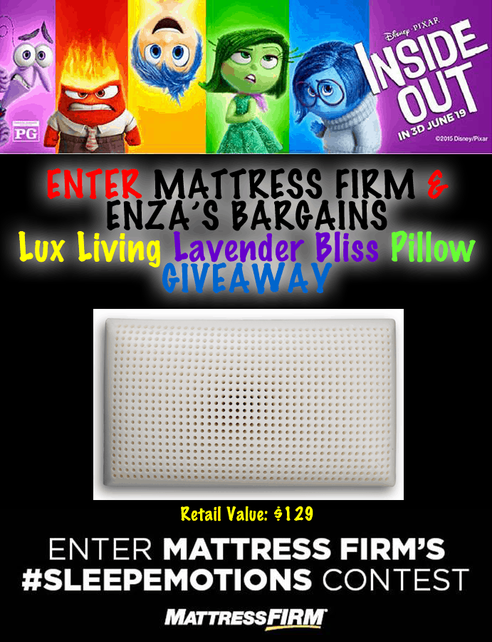 Inside Out Mattress Firm Giveaway