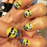 Minion Nails – I am a total amateur! They were pretty EASY!