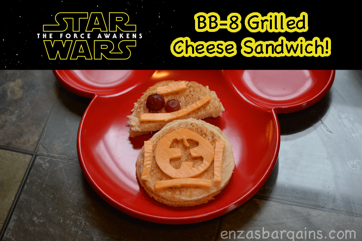 Star Wars BB-8 Theme Food – Grilled Cheese Sandwich