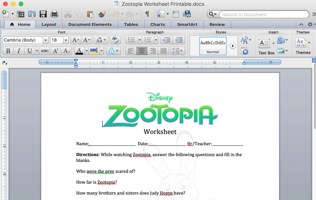 Zootopia Lesson Plan Teaching Kids About Bias vs Stereotypes – Lesson Plan Worksheets