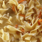 Chicken Noodle Soup Crock Pot Recipe with Sanderson Farms Chicken