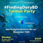 Finding Dory DVD / Blu-ray Twitter Party #FindingDoryBD