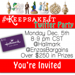Hallmark Keepsake Ornaments Twitter Party Monday 12/5 at 8pm CST #KeepsakeIt