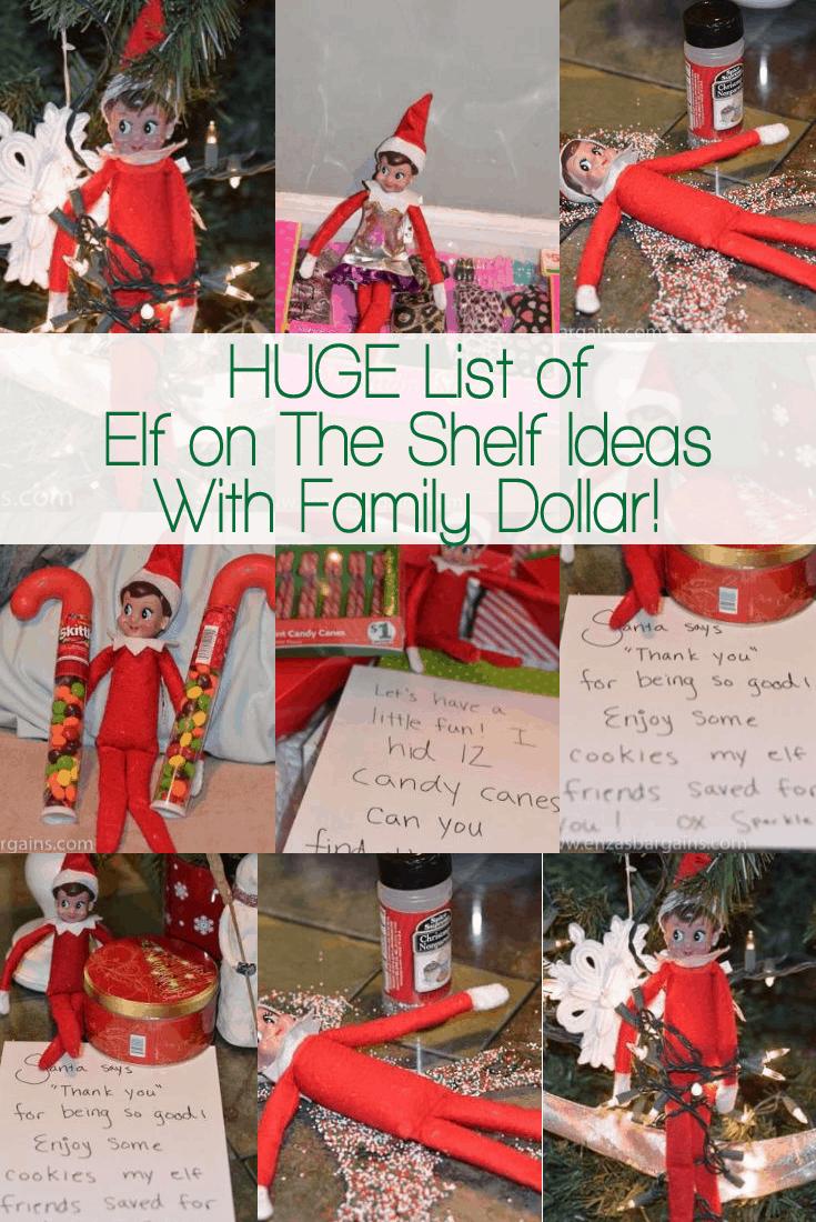 Elf on the Shelf Family Dollar Ideas!