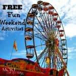 FREE Fun Weekend Activities List