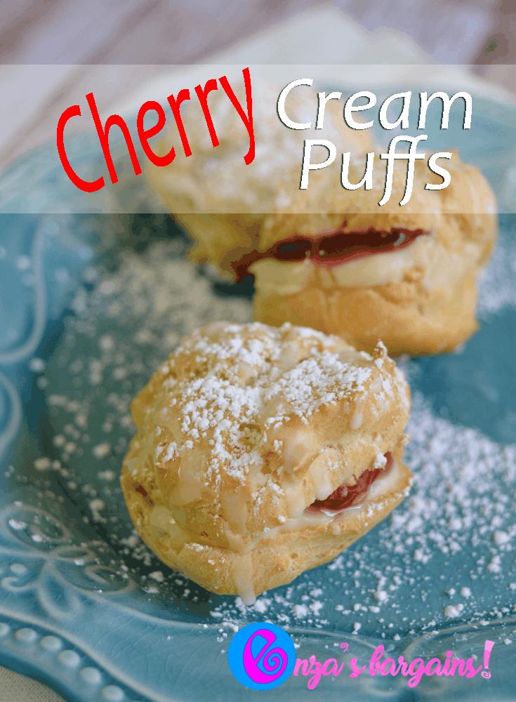 Cherry Filled Cream Puffs Recipe