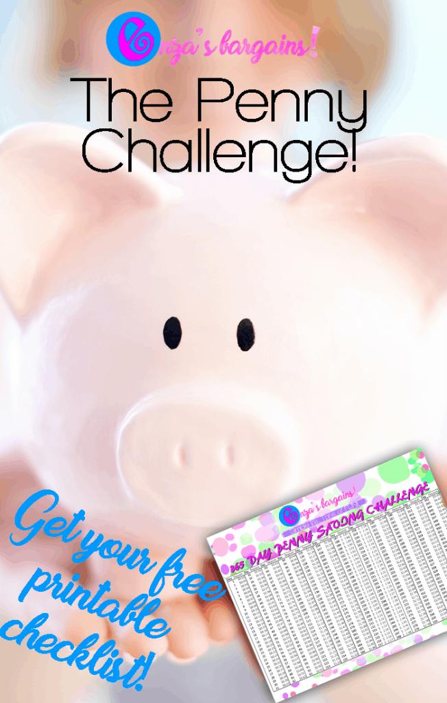 Penny Savings Challenge Checklist - FREE Printable