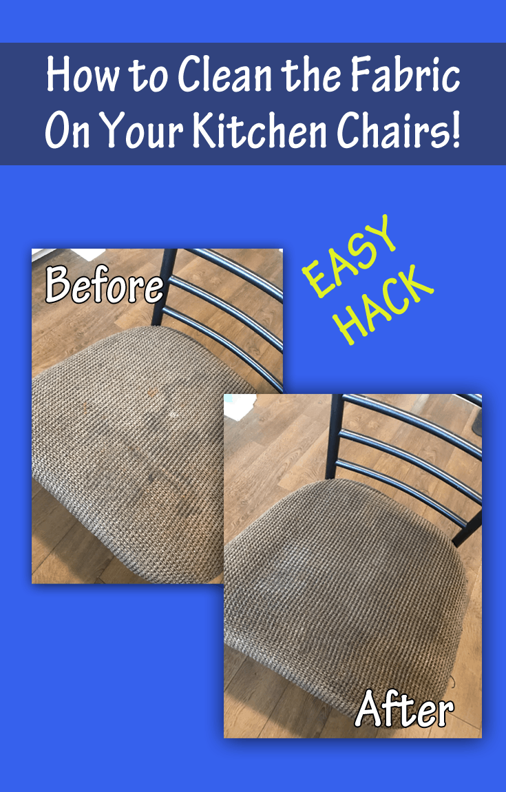 how to clean fabric on kitchen chairs with johnson 39 s baby hack. Black Bedroom Furniture Sets. Home Design Ideas
