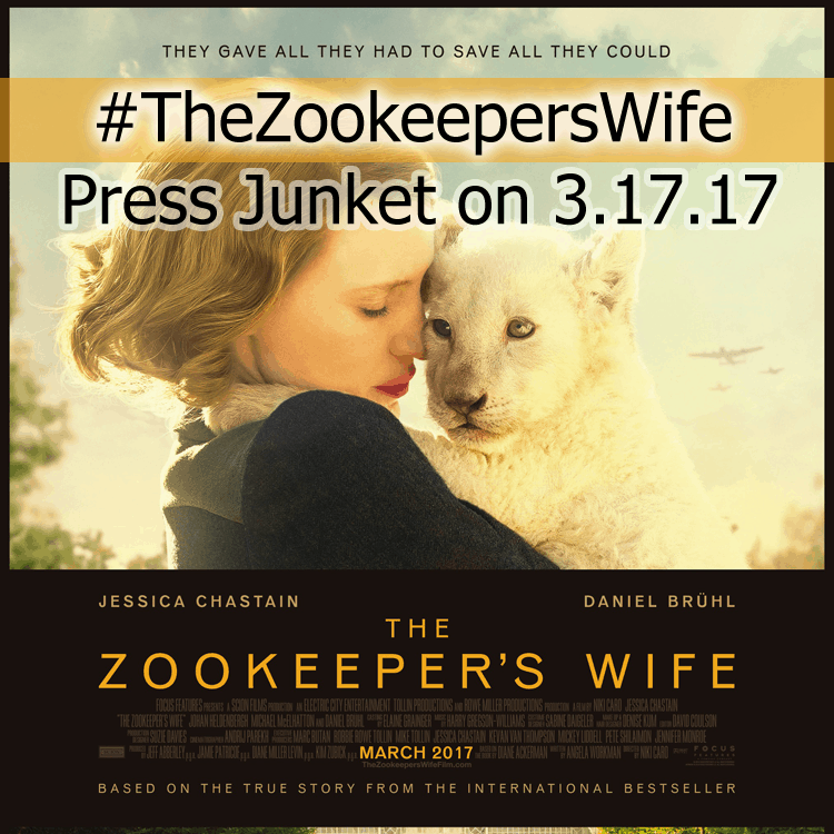 The Zookeeper's Wife Press Junket in New York #TheZookeepersWife.
