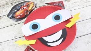 Cars 3 Craft: Lightning McQueen paper plate